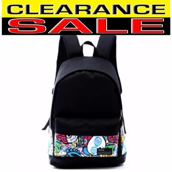 Clearance Sale !!! Pilot Canvas Fashion 5008 School StudentBackpack Casual Outdoor Travel Backpack (Black) with Free Bag Tag - 3