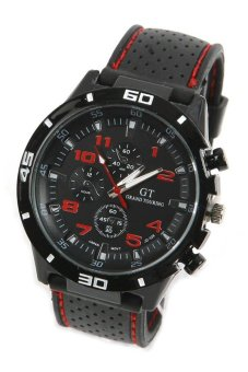 Cocotina Sports Analog Casual Wrist Watch Black Red
