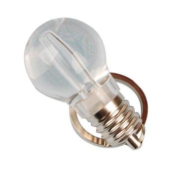 Colorful Bulb-shaped Key chain Key Ring with LED Light