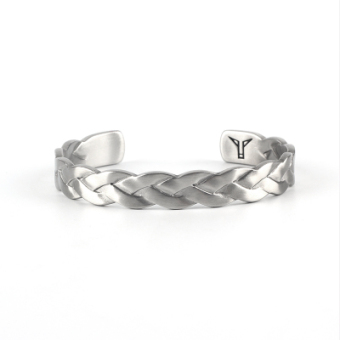 Cool European and American men's titanium steel bracelet twist bracelet