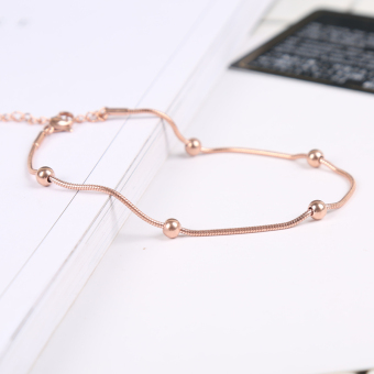 Cool Korean-style black student bracelet rose gold bracelet