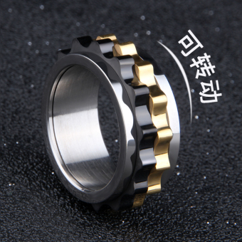 Cool Korean-style titanium steel gear ring Outer Ring