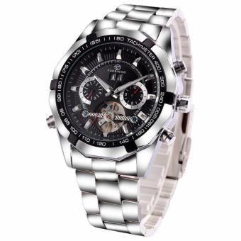Cool Luxury Brand Forsining Wrist Watch Men Stainless Still Mechanical Watch Mens Dress Watch Gift for Male - intl - 4