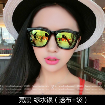 Cool men and women reflective star models aviator sunglasses sun glasses