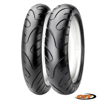 CST Scooter Tubeless 2xTires Set for Yamaha Mio i125 (Front:70/90-14 Rear: 80/90-14) C6577
