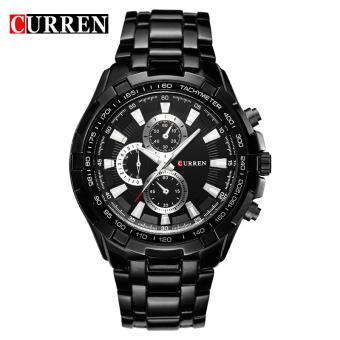 CURREN 8023 men watches quartz watch waterproof black white gold - 4