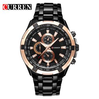 CURREN 8023 men watches quartz watch waterproof black white gold - 3