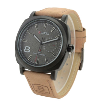 Curren Men's Black Leather Strap Watch 8139 - picture 2