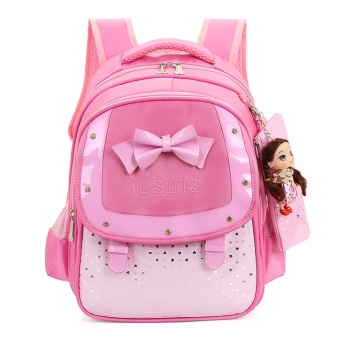 Cute Girls Backpacks Kids Satchel Children School Bags For GirlsOrthopedic Waterproof Backpack Child School Bag MochilaEscolar-pink - intl
