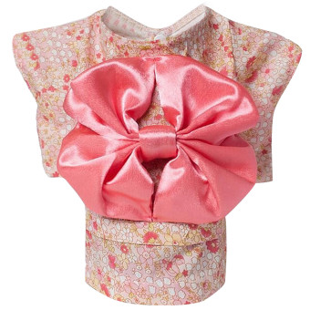 Cute Japanese Kimono Style Apparel Costume Pet Clothes for DogPuppy Cat Skirt Dress Clothing Pink Size M