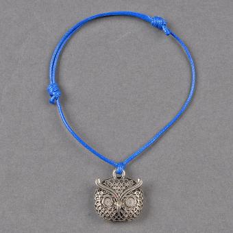 Cyber Unisex Boys Girls Rope Alloy Pattern Adjustable Bracelet Wrist Band ( Blue )