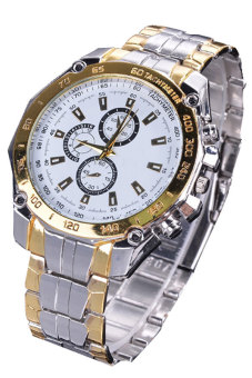 Cyber Women's Steel Luxury Analog Quartz Wrist Watch (White)