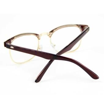 Cyxus Blue Light Filter Semi-Rimless Computer Glasses Anti Eyestrain UV Blocking Dark Brown Gaming Eyewear - intl - 5