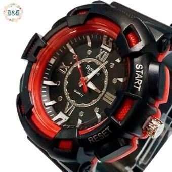 D&D C804 Fashion Men Black Silicone strap Sport Quartz Wrist Watch - 4