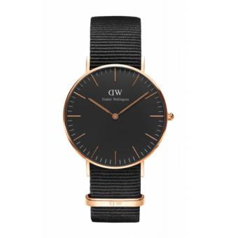 Daniel Wellington Classic Black Cornwall 36mm Rosegold Watch