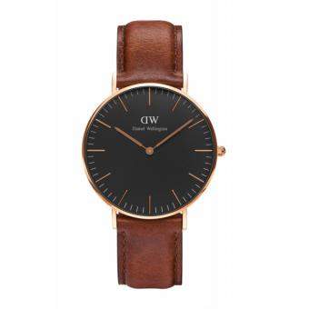 Daniel Wellington Classic Black St. Mawes 36mm Rosegold Watch