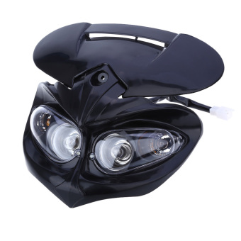 DC Motorcycle Dual Headlight Fairing Head Lamp for F-Eagle Apollo (Black)