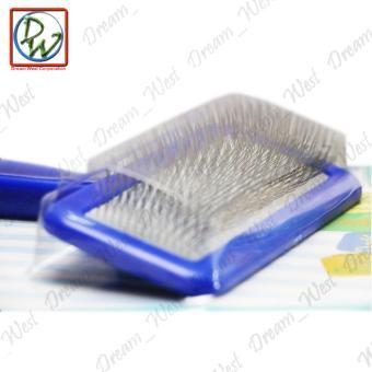 Delight Pet Hair Shedding Grooming Rake Comb Brush (Blue) - 3