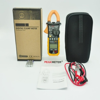 Digital Clamp Meter DC AC Volt AC Amp Ohm Tester MS2008A 2000 Counts LCD - intl