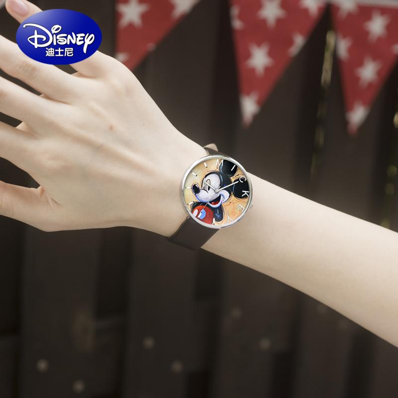 Disney girl's girls quartz leather belt watch watches