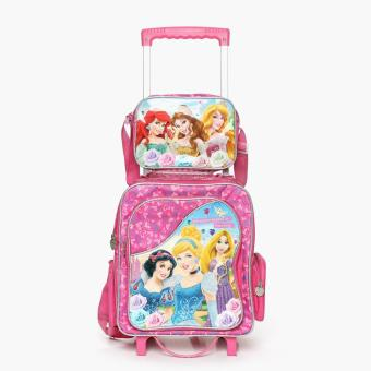 Disney Princess Girls Trolley Backpack with Lunch Bag