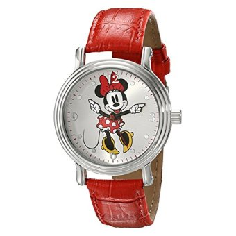 Disney Women's W001877 Minnie Mouse Analog Display Analog QuartzRed Watch - intl Price Philippines