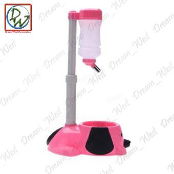 Dog Cat Water Feeder (Pink) - 3