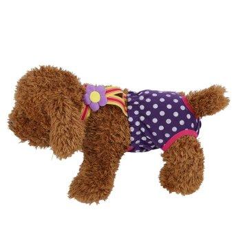 Dog Diaper Suspender Underwear Reusable Washable Pants Purple XL -intl - 2