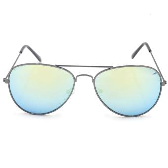 DOII Italy 3025 Aviator Sunglasses (Multicolor)