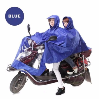 Double 2-Person Waterproof Motor Raincoat (Blue) Price Philippines