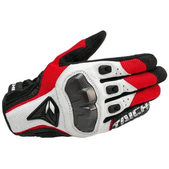 DualX RS Taichi RST391 Mens Perforated leather Motorcycle Mesh Gloves- L size - intl