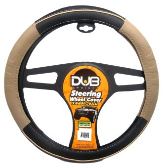 Dub AN8906 Steering Wheel Cover (Black/Beige)