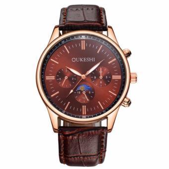 E&E Oukeshi 750 Men's Leather Strap Watch - 2