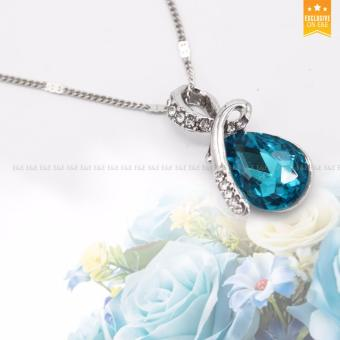 E&E T38 Tears of the Angel Austrian Crystal Accessories Necklace+ Bracelet +1 Pair Earrings Jewellery Sets - 2