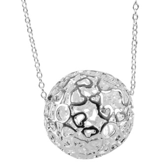 Easybuy Fashion 925 Silver-Plated Charm ball lovely Pendant Beautiful Necklace (Intl)