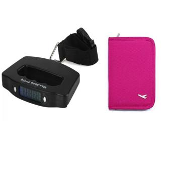 Electronic Luggage Scale (Black) With Mini Passport Holder(Multicolor)