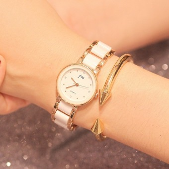 Elegant Korean-style female waterproof ceramic student watch women's bracelet watch