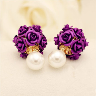 Elegant Shishang ornaments rose ball stud elegant earrings