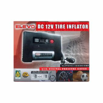 Elevo Dc 12V Tire Inflator With Digital Pressure Gauge AutoShut-off - 4