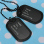 Engraved Personalised Army Style 2 Dog Tags Chain Pendant Necklace Gift Present
