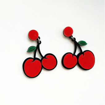 European and American elegant exaggerated fruit cool earrings celebrity inspired earrings