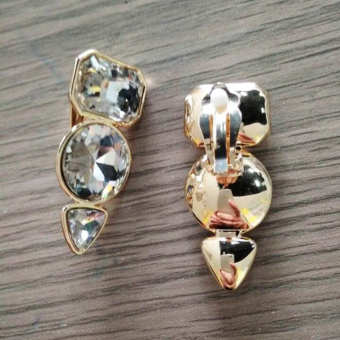 European and American New style crystal ear clip