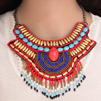 European and American style beads fake collar necklace