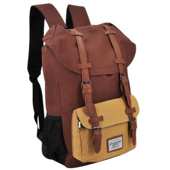 Everyday Deal Travel Laptop Backpack (Brown/Cream) Price Philippines