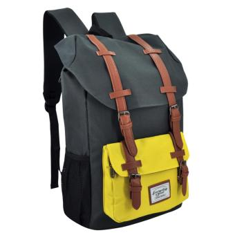 Everyday Deal Travel Laptop Backpack (Grey/Yellow) Price Philippines