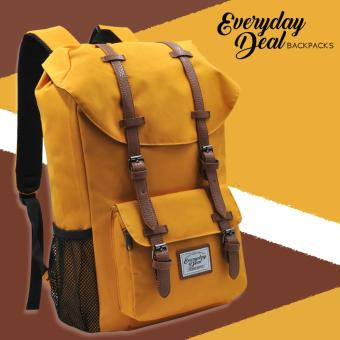 Everyday Deal Travel Laptop Backpack (Mustard Yellow) Price Philippines