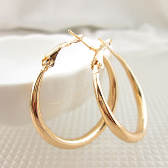 Exaggerated thick circle earrings big ear ring