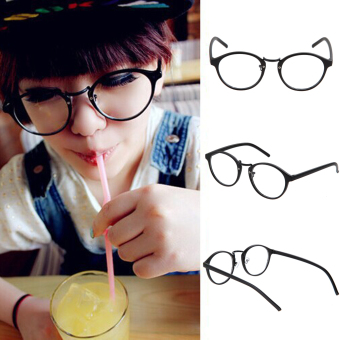 Eyeglasses Frame Optical Reading Eye Plain Glasses Black - 2