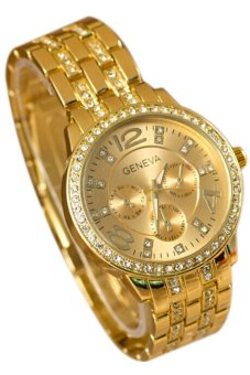 Fancyqube Fashionable Women's Rose Gold Stainless Steel Wrist Watch