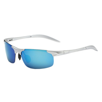 Fancyqube Unisex Colorful Polarized Sunglasses Blue